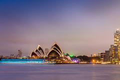 SYDNEY - OCTOBER 12, 2015: The Iconic Sydney Opera House is a mu Royalty Free Stock Photos