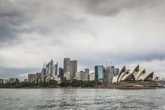 SYDNEY - OCTOBER 27 : Sydney city circular quay sunset lights an Royalty Free Stock Image