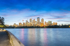 SYDNEY - OCTOBER 2015: Sydney Harbour at night. Sydney attracts. 30 million people annually Stock Image