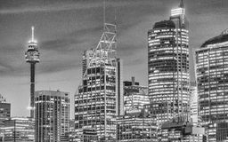 SYDNEY - OCTOBER 2015: Sydney skyline and buildings. Sydney attr Royalty Free Stock Image