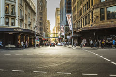 SYDNEY - OCTOBER 27: Tourists along city streets, October 27, 20 Royalty Free Stock Image