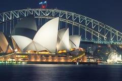 SYDNEY - 12 OCTOBRE 2015 : Sydney Opera House iconique est la MU Photo libre de droits