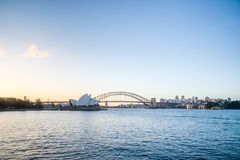 SYDNEY - 12 octobre : Vue de Sydney Opera House le 12 octobre 2017 à Sydney, Australie Photos libres de droits