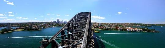 Sydney octubre de 2009: Mirada del puerto de Sydney del puente del puerto. fotos de archivo libres de regalías