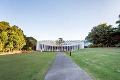 SYDNEY - Oktober 12: Blomfodret i Sydney Royal Botanic Garden på Oktober 12, 2017 i Sydney, Australien Arkivbilder