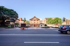 SYDNEY - Oktober 12: HYDE PARKEN INKVARTERA I EN BARACK MUSEET 1819, plats för straffånge för världsarv en australisk, Oktober 12 Royaltyfria Foton