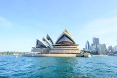SYDNEY - 12 oktober: Sydney Opera House-mening op 12 Oktober, 2017 in Sydney, Australië Sydney Opera House is beroemde kunstencen Stock Afbeeldingen