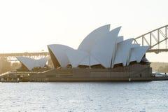 SYDNEY - Oktober 12: Sydney Opera House sikt på Oktober 12, 2017 i Sydney, Australien Sydney Opera House är berömda konster Fotografering för Bildbyråer