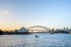SYDNEY - Oktober 12: Sydney Opera House sikt på Oktober 12, 2017 i Sydney, Australien Royaltyfria Bilder