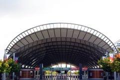 Sydney-olympische Park-Bahnstation Lizenzfreie Stockfotos