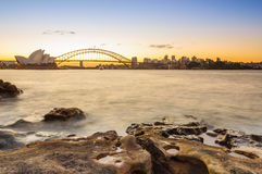 The Sydney Opear House and Habour Bridge Royalty Free Stock Photos