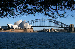 Sydney Opera and Harbour-Bridge. Opera and Harbour-Bridge of Sydney at night Stock Photography