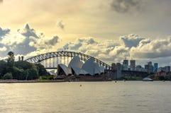 Sydney Opera and harbour bridge at daytime Royalty Free Stock Photo