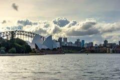 Sydney Opera and harbour bridge at daytime Royalty Free Stock Photos