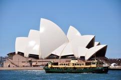 Sydney Opera House är konster centrerar i Sydney, New South Wales, Australien Fotografering för Bildbyråer