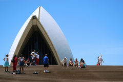 Sydney Opera House. One part of the Sydney Opera House in Australia with tourists Royalty Free Stock Image