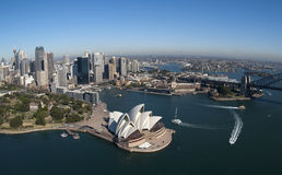 Sydney Opera House. Aerial view of the city of Sydney and the Sydney Opera House