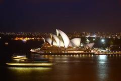 Sydney Opera House. Profile of Sydney Opera House at night royalty free stock photography