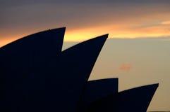 Sydney Opera House. Silhouette of the Sydney Opera House Royalty Free Stock Photos