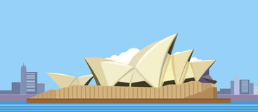 Sydney Opera House royalty-vrije illustratie