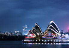 Sydney Opera House. At night Royalty Free Stock Photography