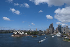 Sydney Opera house aerial view Stock Images
