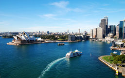 Sydney Opera House. Aerial view of Sydney Opera House stock photography