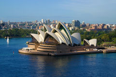 Sydney Opera House aerial view from harbour bridge Stock Images