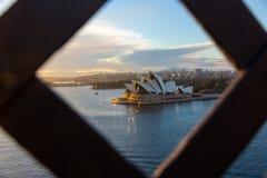 Sydney Opera House-Ansicht mit schönem Himmel morgens lizenzfreies stockbild