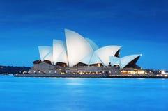 Sydney Opera House At Night Stock Images