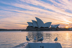 Sydney Opera House au lever de soleil en Sydney Australia Photo stock