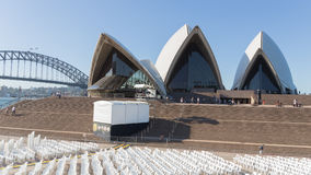 Sydney Opera House and the auditorium under the open sky in Sydn Stock Photography