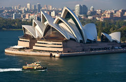 Sydney Opera House - Australia. The Sydney Opera House in the city of Sydney in Australia stock photos
