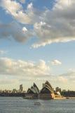 Sydney Opera house. Australia Sydney CBD panoramic view from Kirribilli before sunset Royalty Free Stock Photo