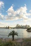 Sydney Opera house. Australia Sydney CBD panoramic view from Kirribilli before sunset Royalty Free Stock Photography