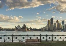Sydney Opera house. Australia Sydney CBD panoramic view from Kirribilli before sunset Royalty Free Stock Image