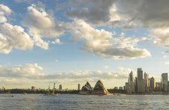 Sydney Opera house. Australia Sydney CBD panoramic view from Kirribilli before sunset Stock Images