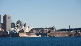 Sydney Opera House in Australia, city. Sydney Opera House in Australia with the city center in the background, Travel and Business Royalty Free Stock Photos