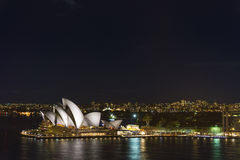 Sydney opera house in australia at night Royalty Free Stock Image