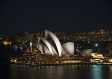Sydney opera house in australia at night Royalty Free Stock Photography
