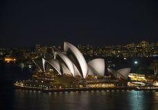 Sydney opera house in australia at night Royalty Free Stock Photography