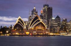 Free Sydney Opera House Australian Iconic Landmark In Circular Quay Look From  North Side Of Stock Photography - 186401852