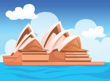 The Sydney opera house, Australian  illustration Stock Photography