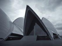 Sydney Opera House in bianco e nero Fotografie Stock Libere da Diritti