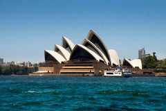 Sydney Opera House - Big blue copyspace Royalty Free Stock Photography