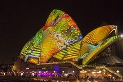 Sydney Opera House bij LEVENDIG Festival 2014 Stock Fotografie