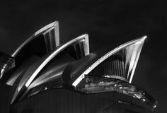 Sydney Opera House bij nacht Royalty-vrije Stock Afbeeldingen