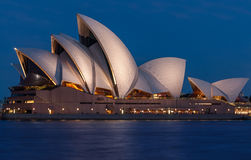 Sydney Opera House at blue hour Stock Photography