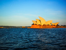 Sydney opera house with Blue sky Royalty Free Stock Photography