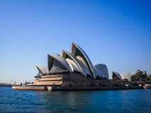 Sydney opera house with blue sky Stock Image